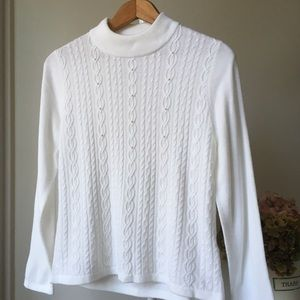 2for $40 Vintage cable and Pearl sweater sm petite